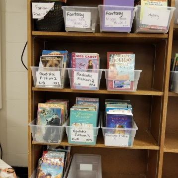Sorting new books!
